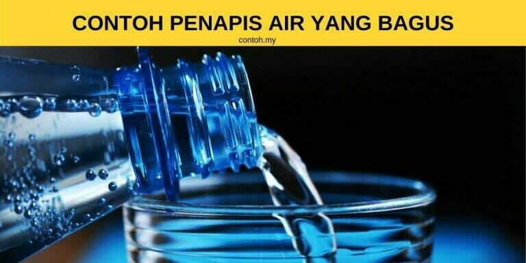 Contoh Penapis Air Yang Bagus